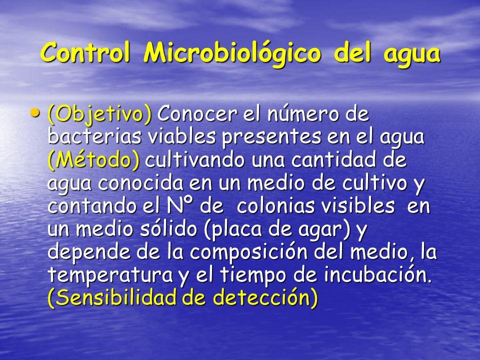 Control Microbiológico del agua