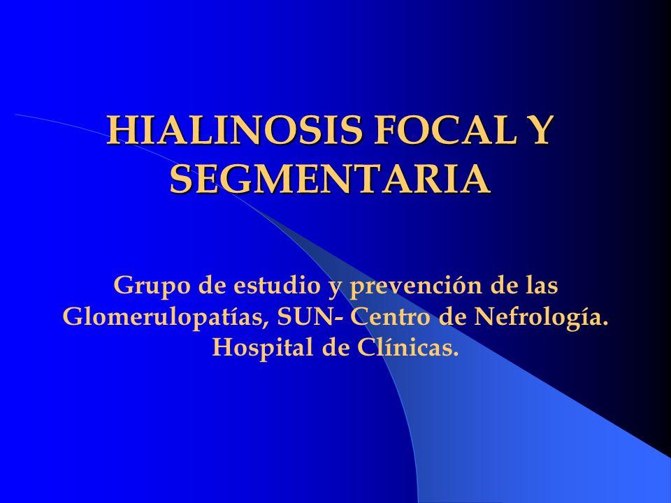 HIALINOSIS FOCAL Y SEGMENTARIA