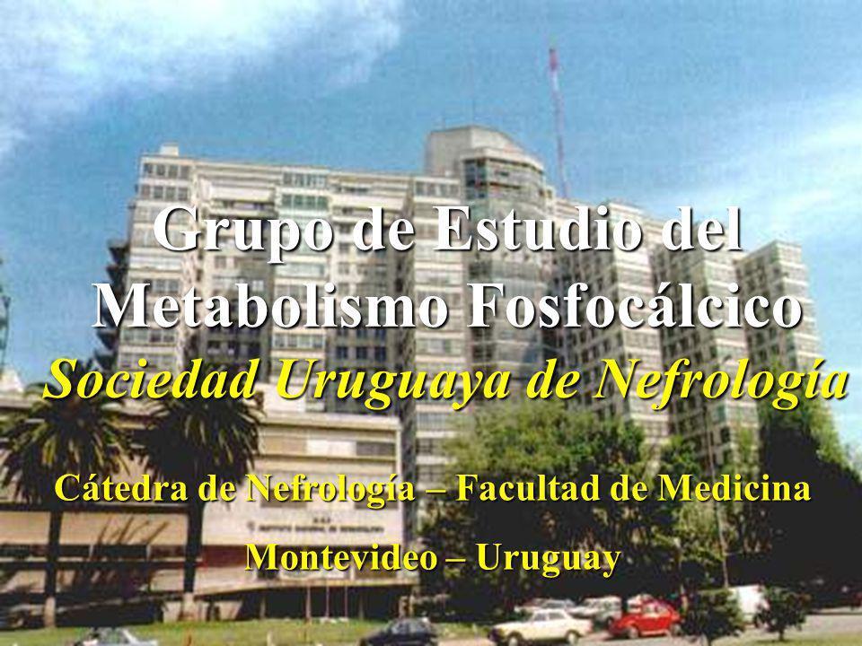Metabolismo Fosfocálcico Sociedad Uruguaya de Nefrología