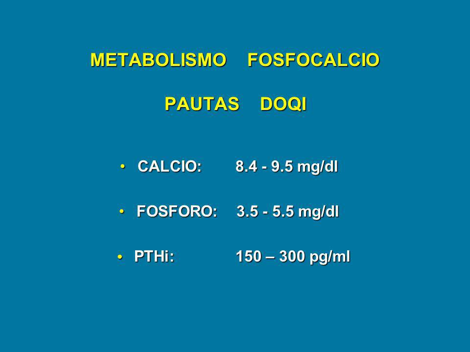 METABOLISMO FOSFOCALCIO PAUTAS DOQI
