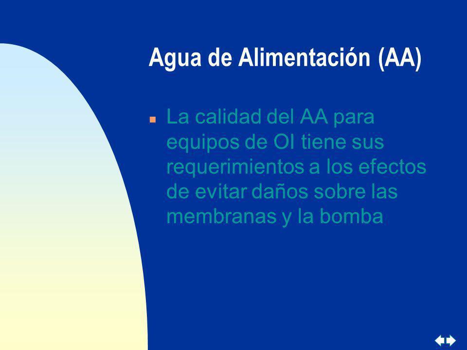 Agua de Alimentación (AA)