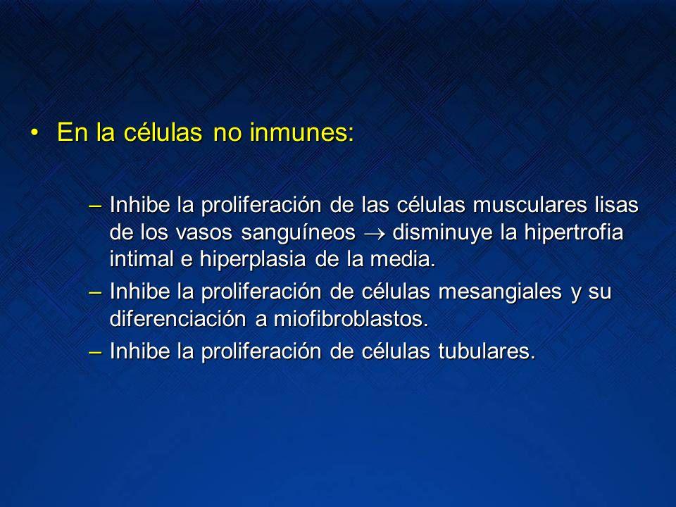 En la células no inmunes: