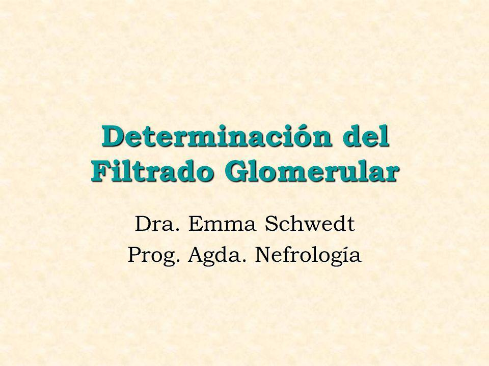 Determinación del Filtrado Glomerular