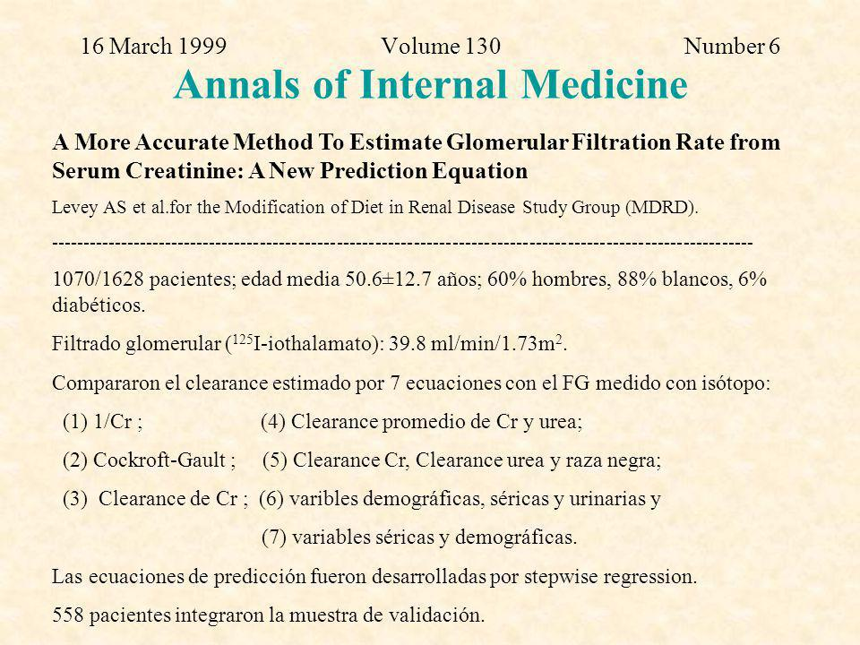 16 March 1999 Volume 130 Number 6 Annals of Internal Medicine