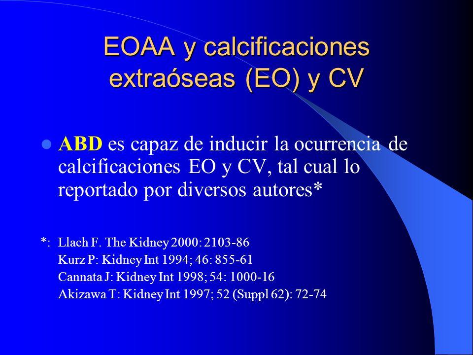 EOAA y calcificaciones extraóseas (EO) y CV