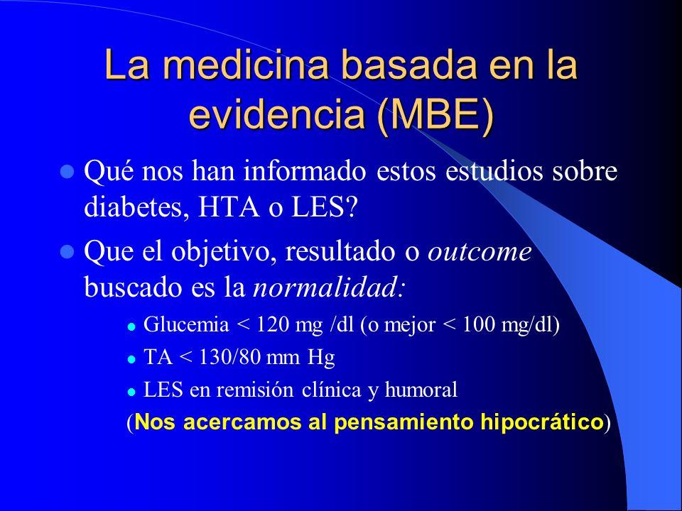 La medicina basada en la evidencia (MBE)