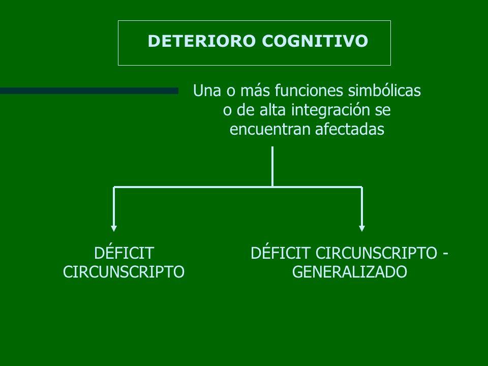 DÉFICIT CIRCUNSCRIPTO DÉFICIT CIRCUNSCRIPTO - GENERALIZADO