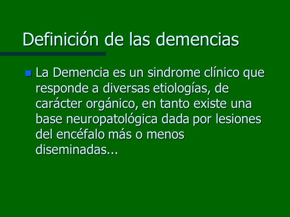 Definición de las demencias