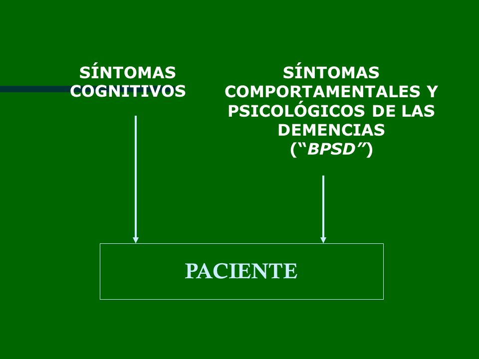 SÍNTOMAS COMPORTAMENTALES Y PSICOLÓGICOS DE LAS DEMENCIAS