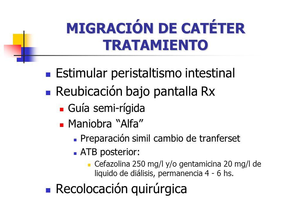 MIGRACIÓN DE CATÉTER TRATAMIENTO