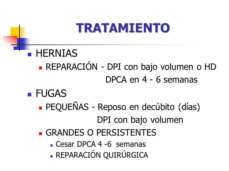 TRATAMIENTO HERNIAS FUGAS REPARACIÓN - DPI con bajo volumen o HD