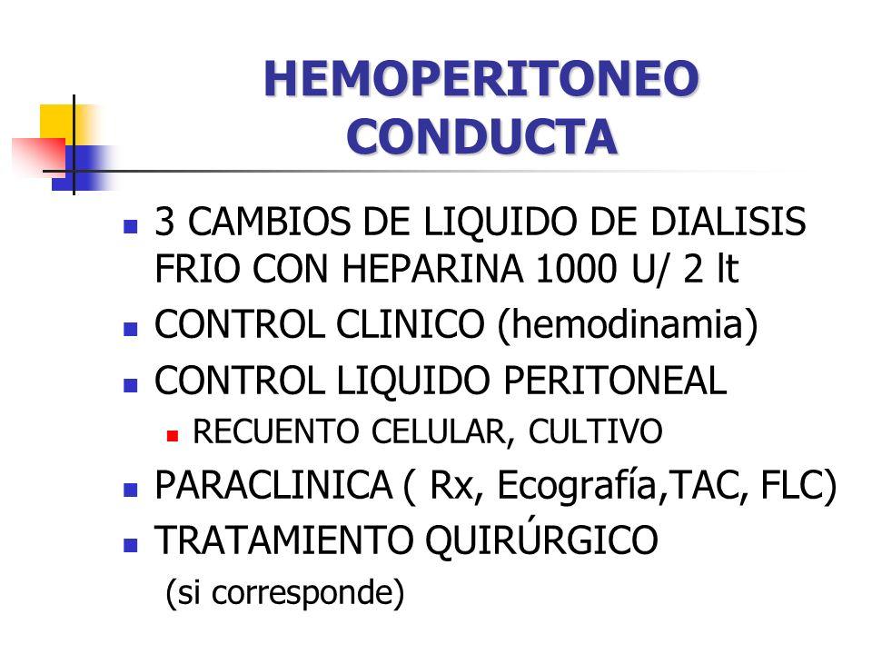 HEMOPERITONEO CONDUCTA