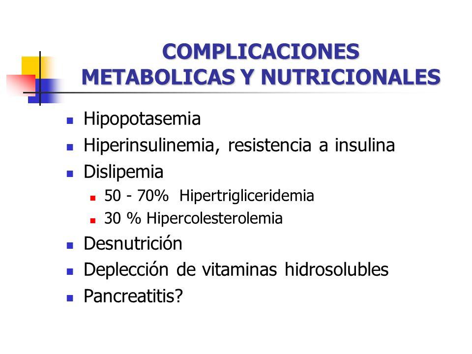 COMPLICACIONES METABOLICAS Y NUTRICIONALES