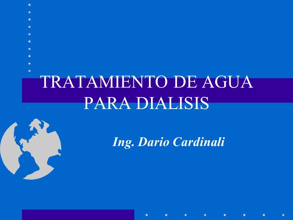 TRATAMIENTO DE AGUA PARA DIALISIS