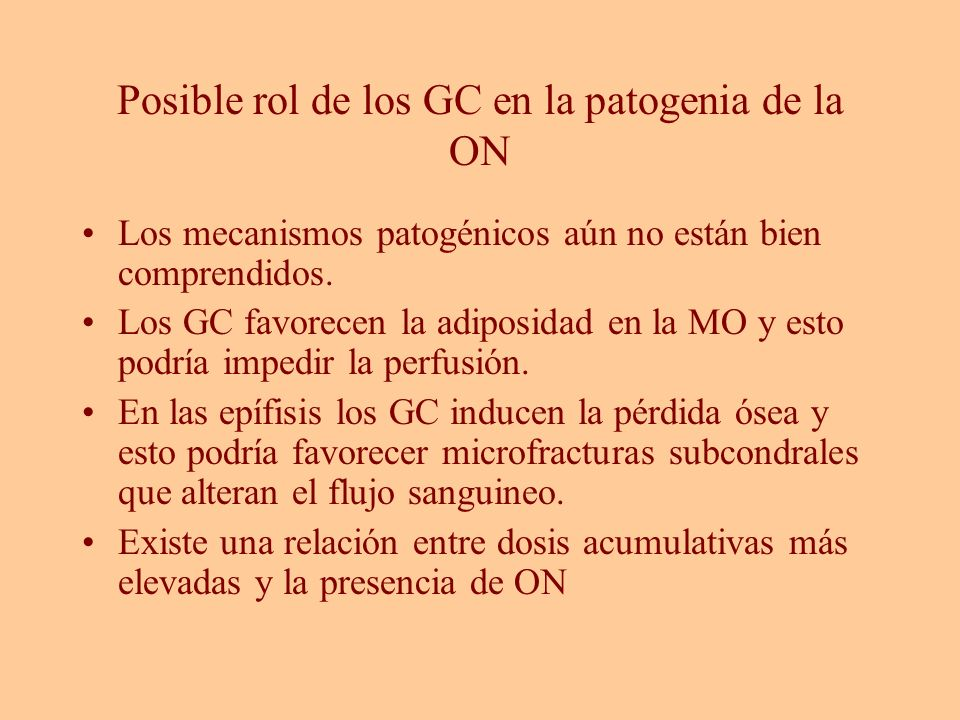 Posible rol de los GC en la patogenia de la ON