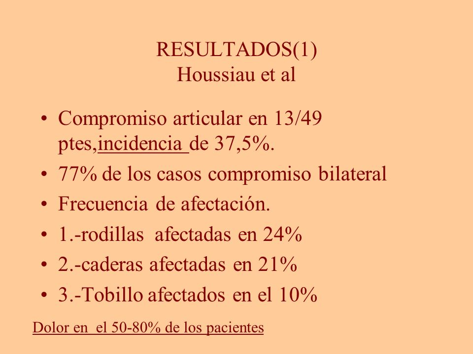 RESULTADOS(1) Houssiau et al