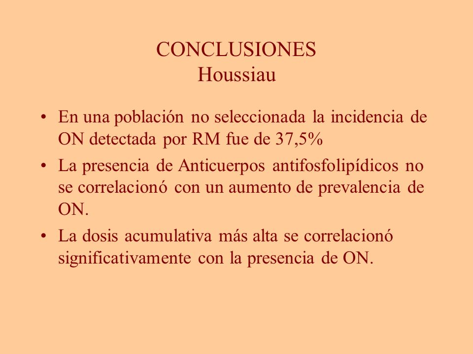 CONCLUSIONES Houssiau