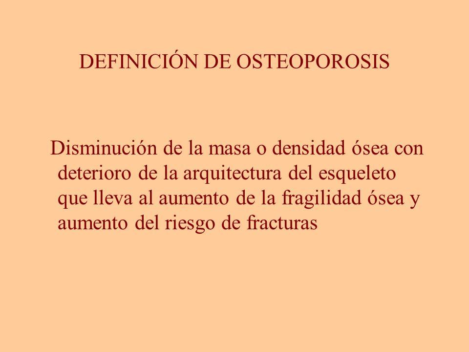 DEFINICIÓN DE OSTEOPOROSIS