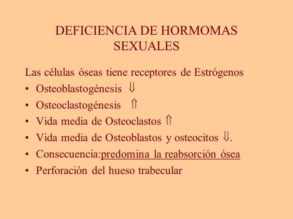 DEFICIENCIA DE HORMOMAS SEXUALES