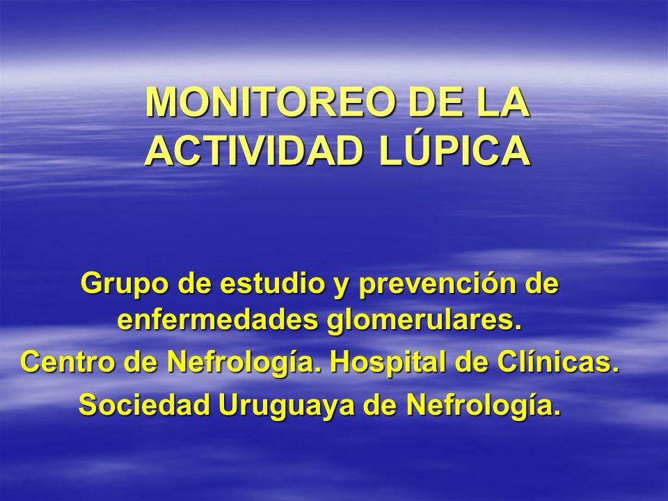 MONITOREO DE LA ACTIVIDAD LÚPICA