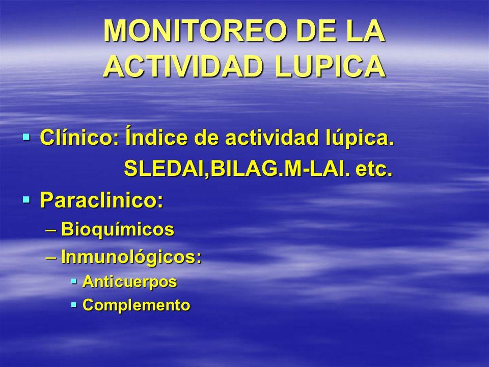 MONITOREO DE LA ACTIVIDAD LUPICA