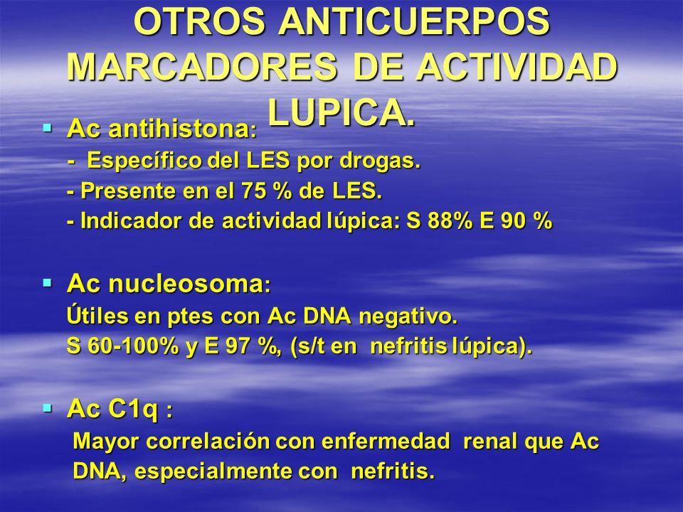 OTROS ANTICUERPOS MARCADORES DE ACTIVIDAD LUPICA.