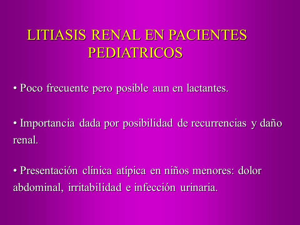 LITIASIS RENAL EN PACIENTES
