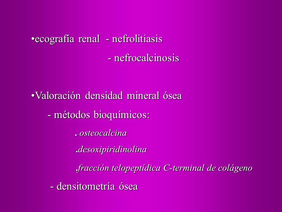 ecografía renal - nefrolitiasis - nefrocalcinosis