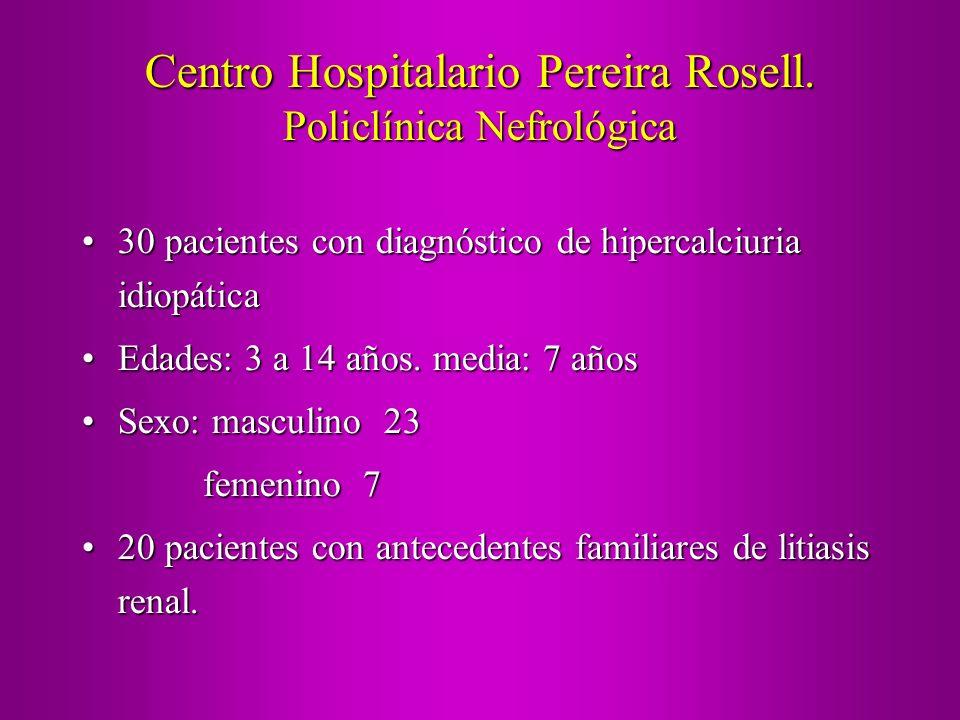 Centro Hospitalario Pereira Rosell. Policlínica Nefrológica