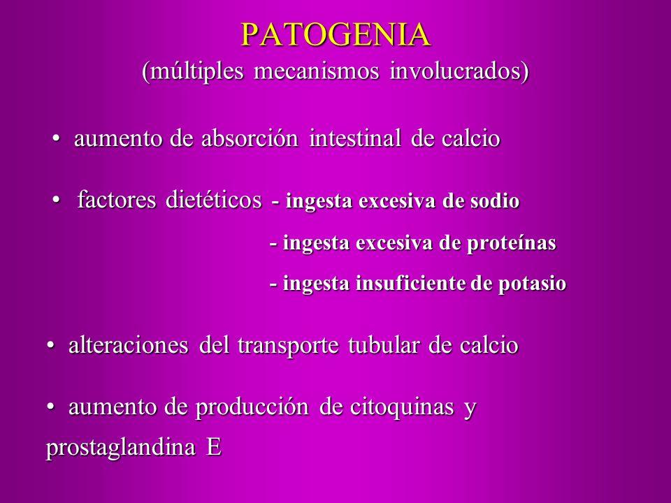 PATOGENIA (múltiples mecanismos involucrados)