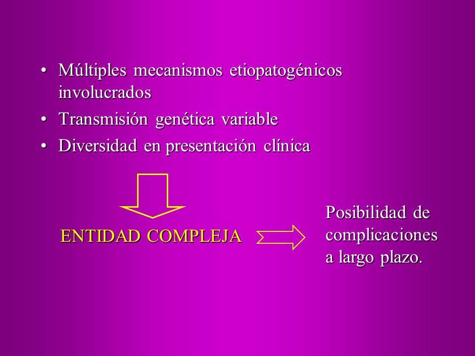 Múltiples mecanismos etiopatogénicos involucrados