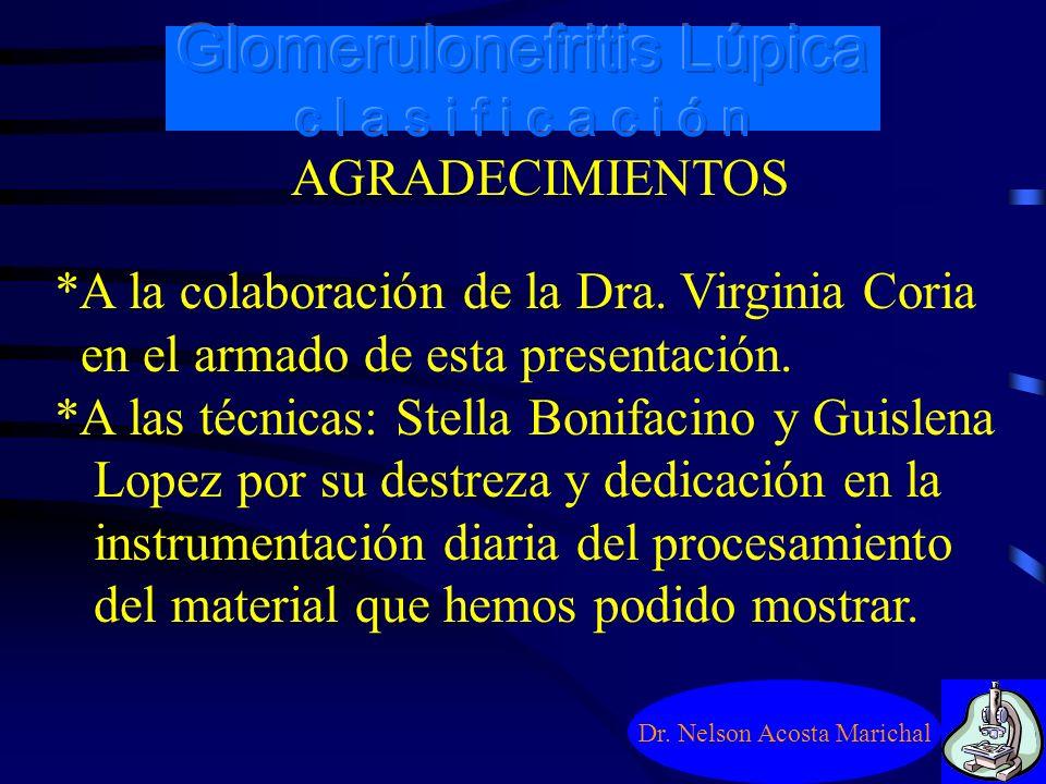 Glomerulonefritis Lúpica c l a s i f i c a c i ó n