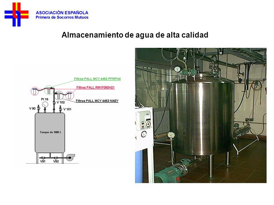 Almacenamiento de agua de alta calidad