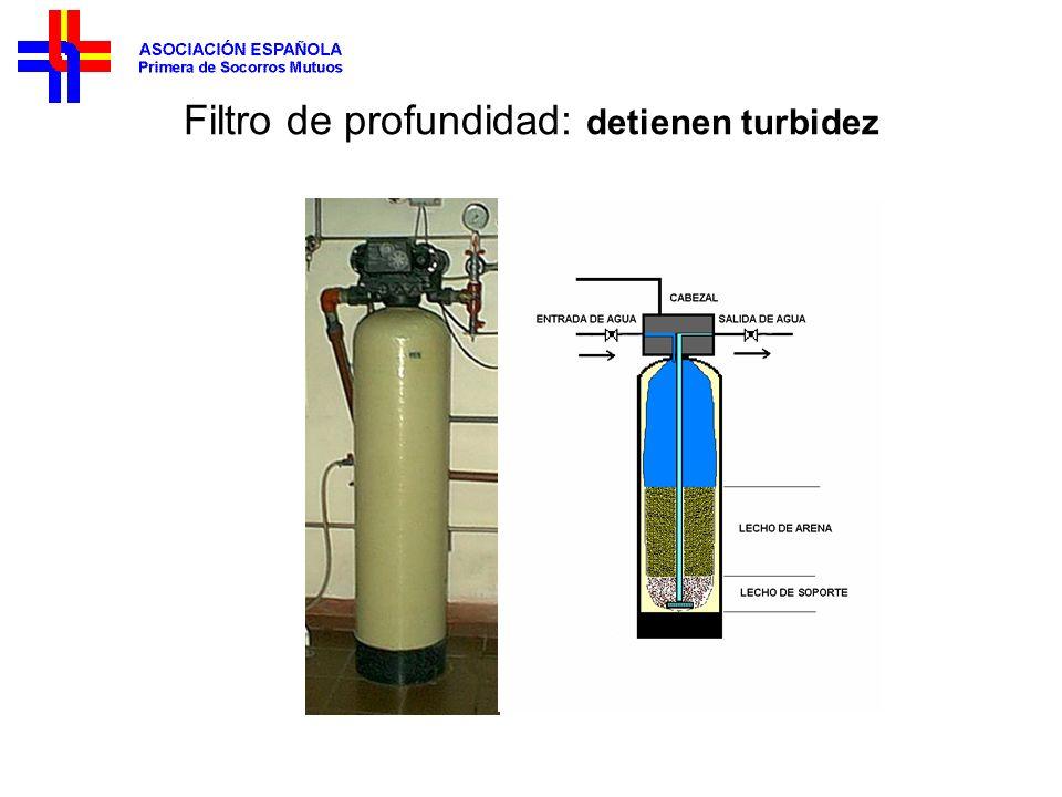 Filtro de profundidad: detienen turbidez