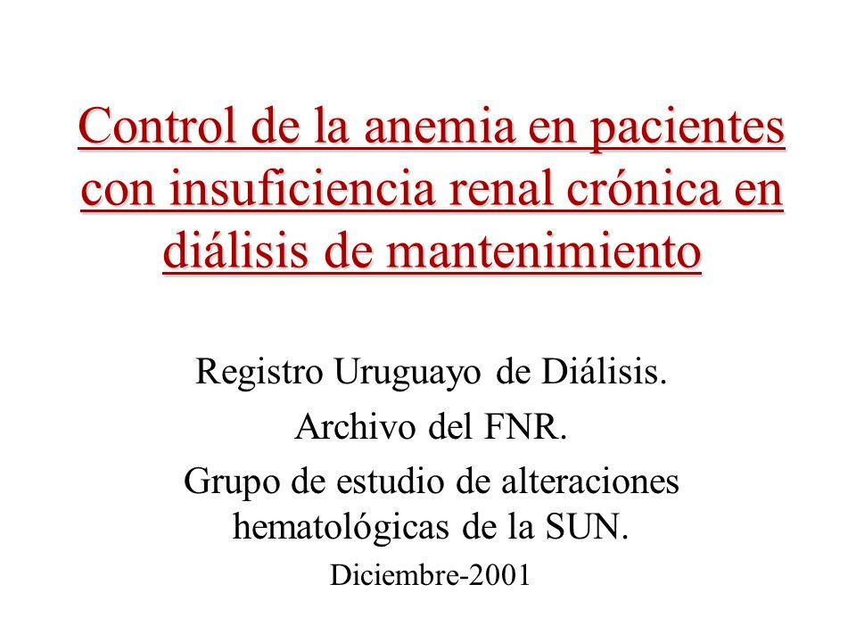 Control de la anemia en pacientes con insuficiencia renal crónica en diálisis de mantenimiento