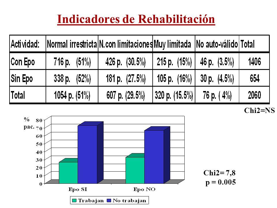 Indicadores de Rehabilitación