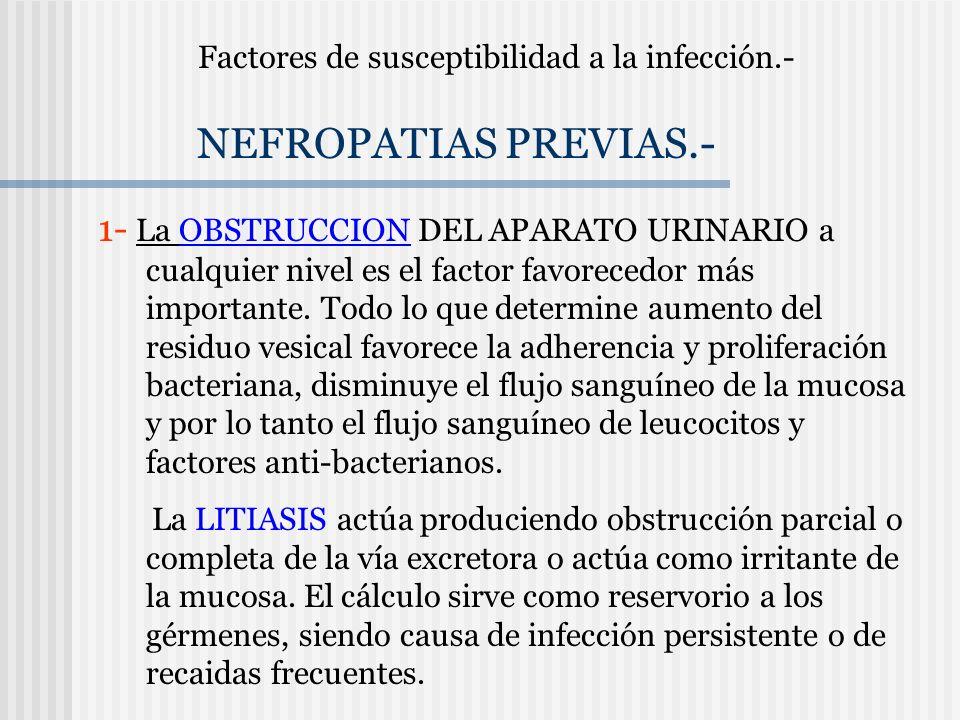 Factores de susceptibilidad a la infección.-