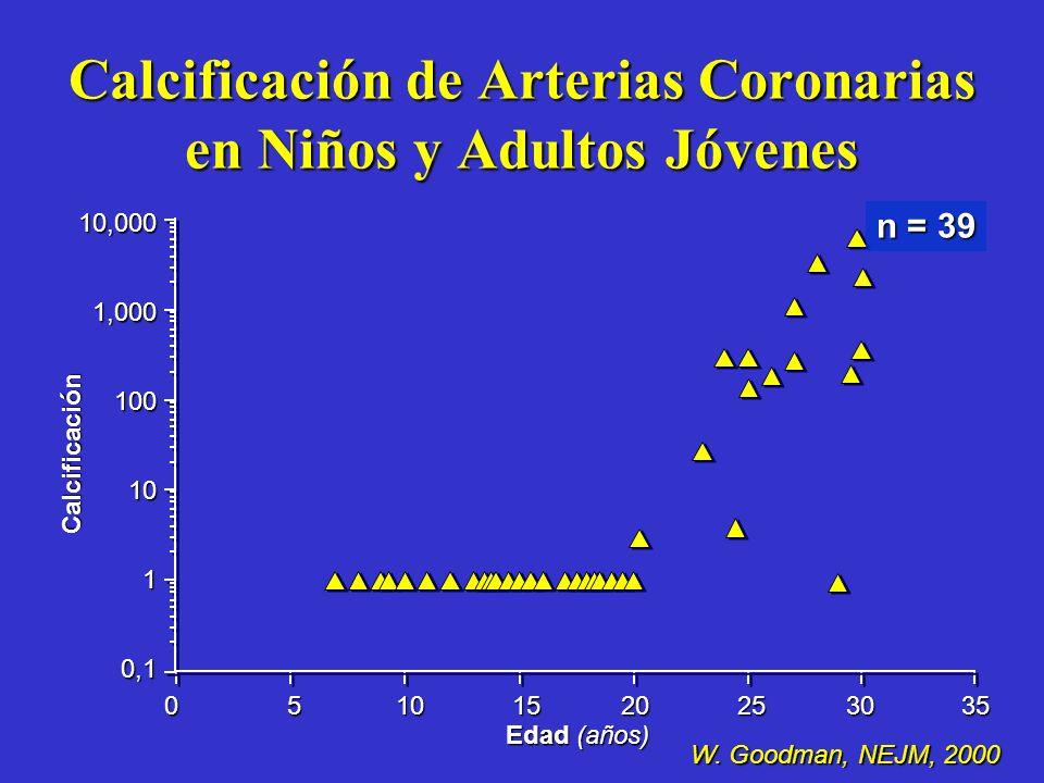 Calcificación de Arterias Coronarias en Niños y Adultos Jóvenes