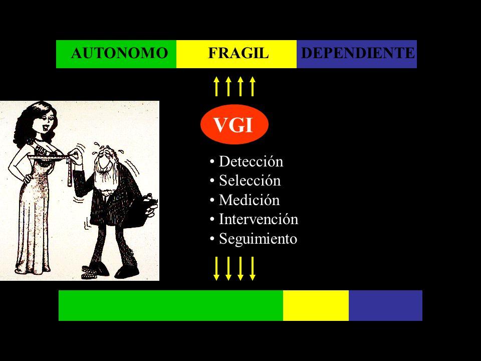 VGI AUTONOMO FRAGIL DEPENDIENTE Detección Selección Medición