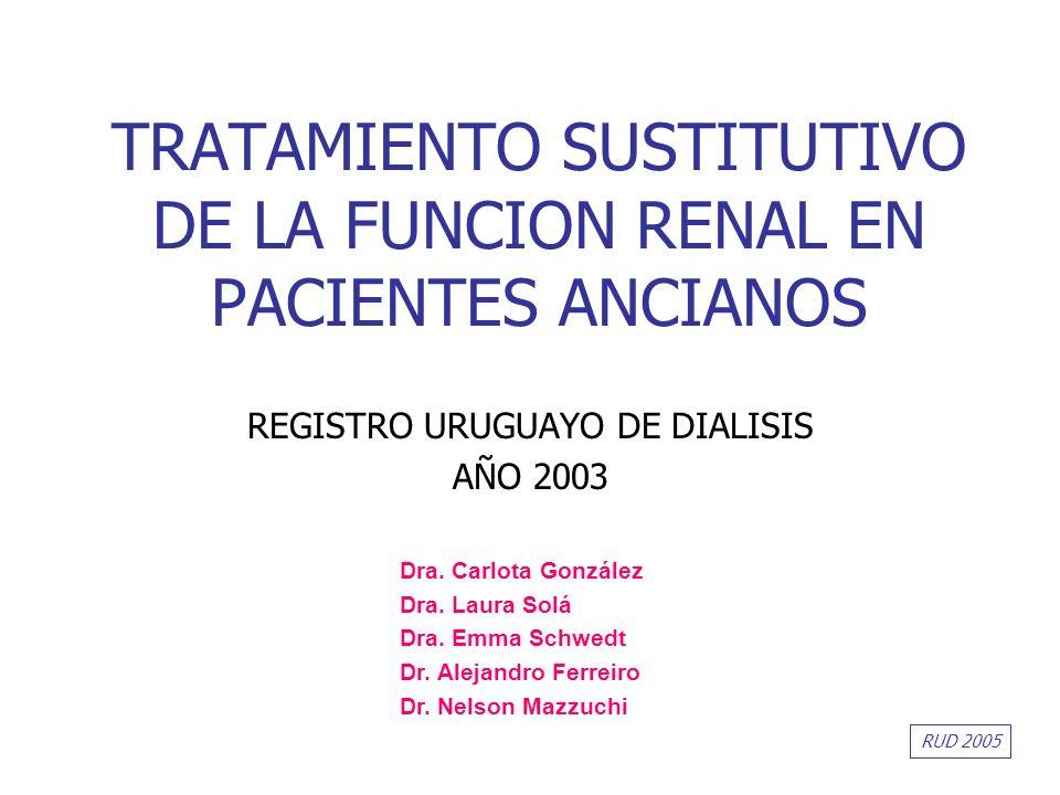 TRATAMIENTO SUSTITUTIVO DE LA FUNCION RENAL EN PACIENTES ANCIANOS