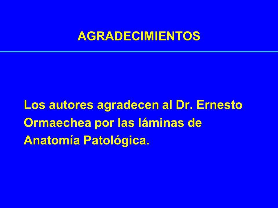 AGRADECIMIENTOSLos autores agradecen al Dr.Ernesto.