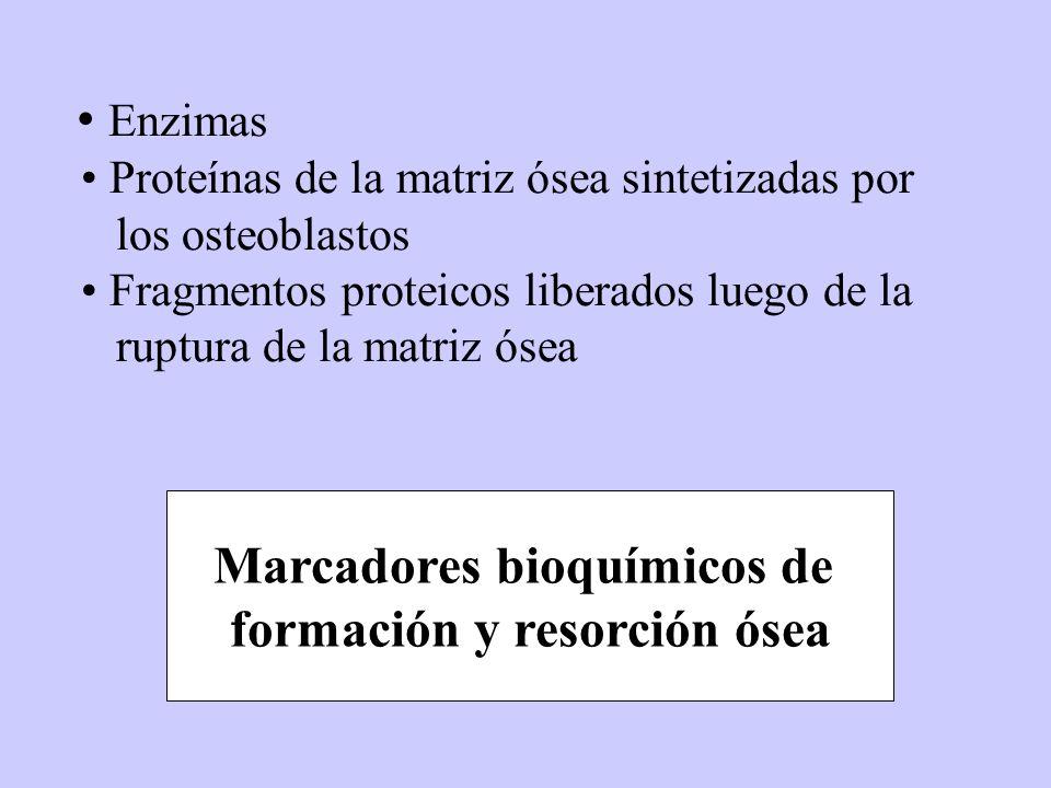 Marcadores bioquímicos de formación y resorción ósea
