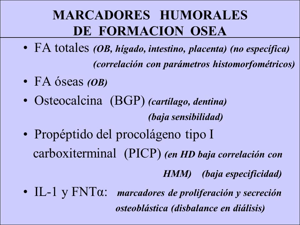 MARCADORES HUMORALES DE FORMACION OSEA