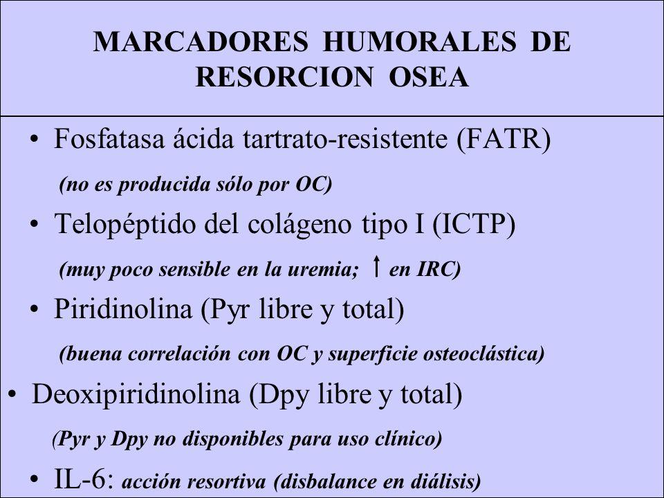 MARCADORES HUMORALES DE RESORCION OSEA