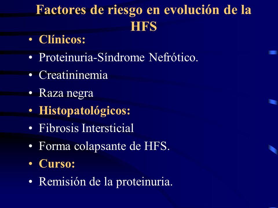 Factores de riesgo en evolución de la HFS