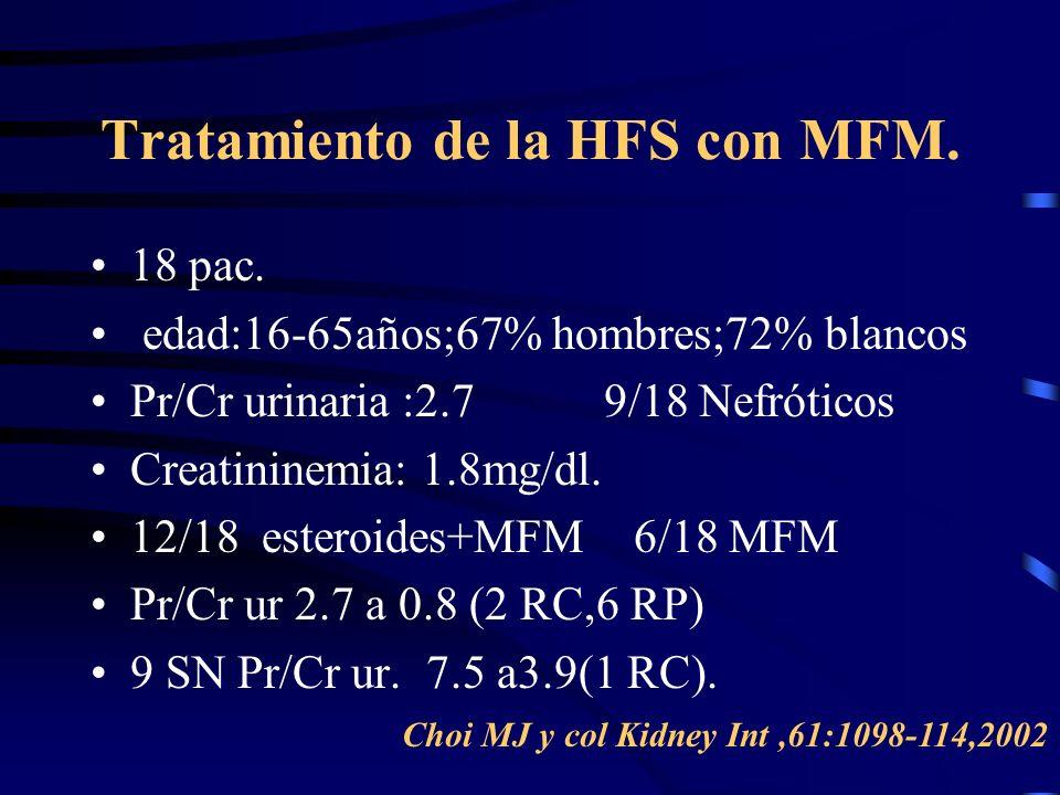 Tratamiento de la HFS con MFM.