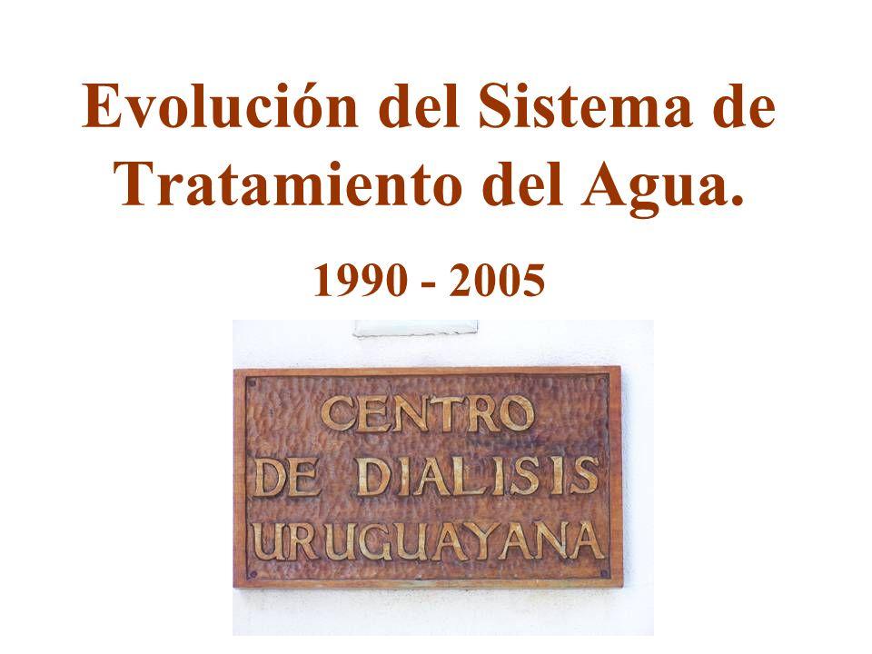 Evolución del Sistema de Tratamiento del Agua. 1990 - 2005