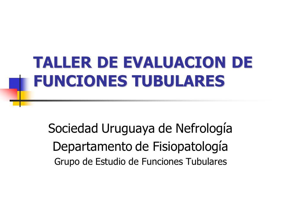 TALLER DE EVALUACION DE FUNCIONES TUBULARES