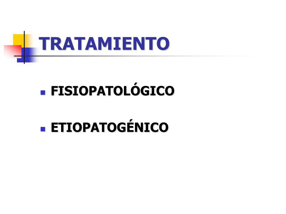 TRATAMIENTO FISIOPATOLÓGICO ETIOPATOGÉNICO