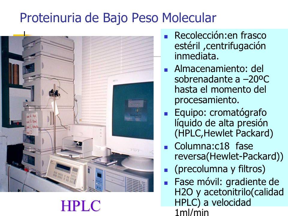 Proteinuria de Bajo Peso Molecular